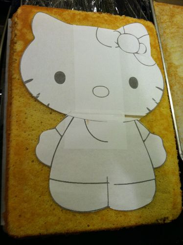 Free Hello Kitty Cake Template