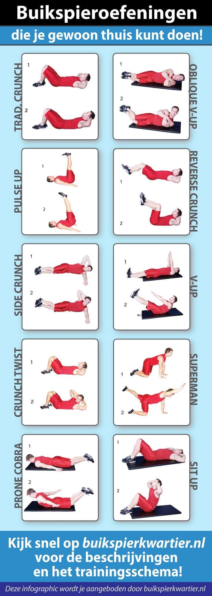 17 beste idee n over thuis oefeningen op pinterest training kalender platte buik snel en - Voor thuis ...