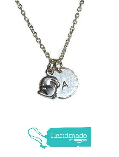 Bunny Hand Stamped Sterling Silver Petite Initial Charm Necklace - Personalized Bunny Necklace - Bunny Rabbit Jewelry from Dolphin Moon Creations https://www.amazon.com/dp/B01FZLJVJY/ref=hnd_sw_r_pi_dp_ntNCxbB508F7T #handmadeatamazon