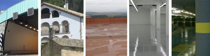 Obra civil, pinturas para exterior e interior, impermeabilizantes, pavimentos, señalizaciónes.