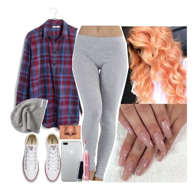 """""""✌️✌️✌️"""" by saucinonyou999 ❤ liked on Polyvore featuring Madewell, Converse and Avon"""