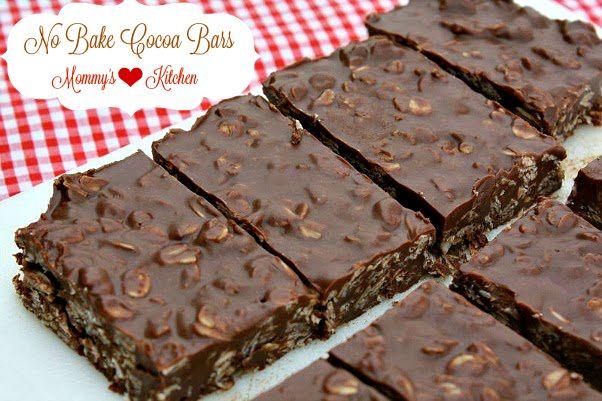 Mommy's Kitchen - Recipes From my Texas Kitchen!: No Bake Cocoa Bars