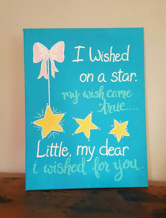 """One of a Kind, Hand Painted Sorority Canvases!  """"I Wished on a Star"""" 8"""" x 10"""".  BUY 2 Canvases, Receive a Bonus Canvas FREE!!"""