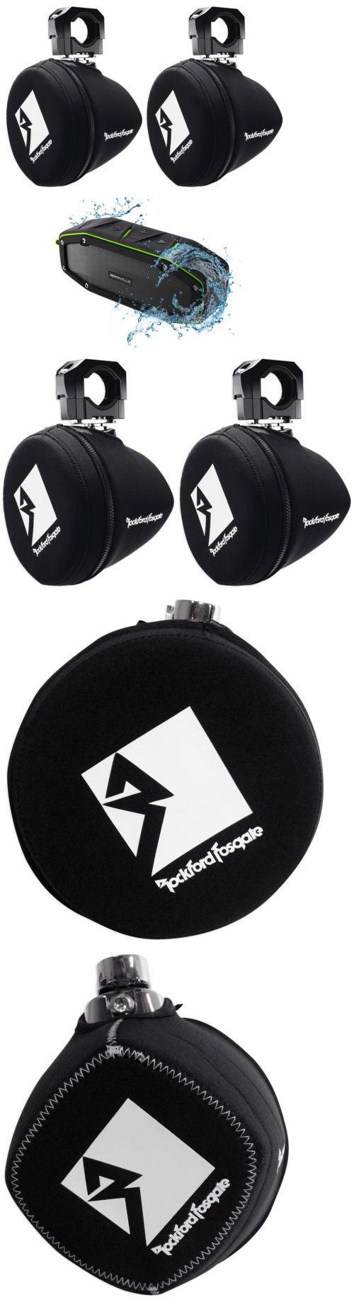 Marine Audio: (2) Rockford Fosgate Pm265-Spfm Marine 6.5 Mini Wakeboard Tower Covers+Speaker -> BUY IT NOW ONLY: $79.99 on eBay!