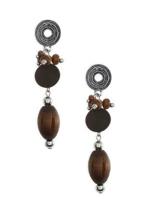 Earrings cato fashion wood beads summer style fashion triple cato