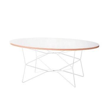 ジオオーバルテーブル (ホワイト)/シンプル&モダンなローテーブル|インテリアハート