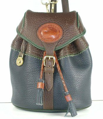 Authentic Dooney and Bourke All Weather Leather H512 Small Teton Backpack