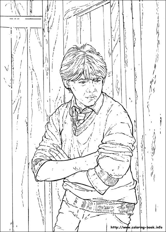 ron weasley coloring pages - photo#13