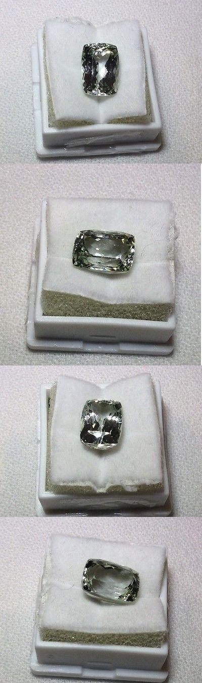 Kunzite 110798: 4.5Ct Natural Teal Green Kunzite Cushion Cut Vvs Loose Gemstone BUY IT NOW ONLY: $49.99