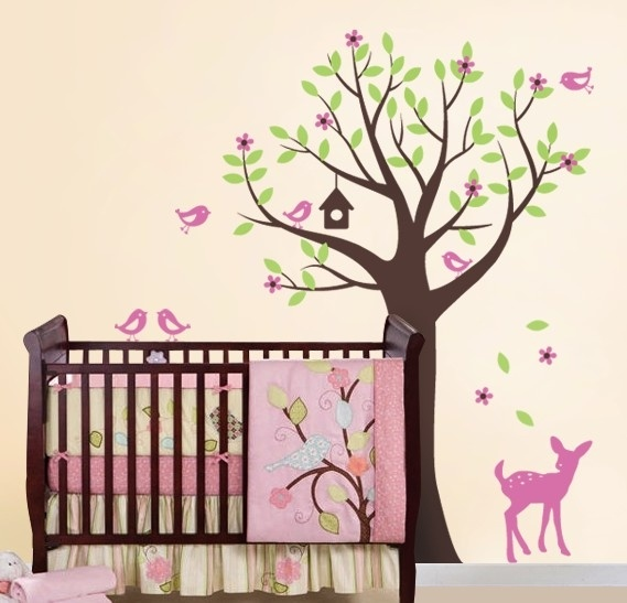 Nursery Tree: Kids Nurseries, Rooms Wall, Kids Wall, Nurseries Rooms, Trees, Vinyls Wall Decals, Baby Girls, Baby Rooms, Girls Rooms