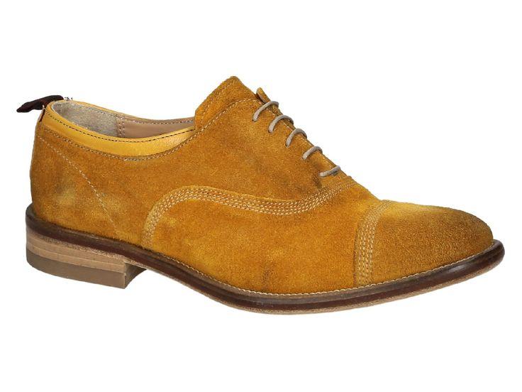 Smith's American women's ocher Suede oxfords shoes - Italian Boutique €169