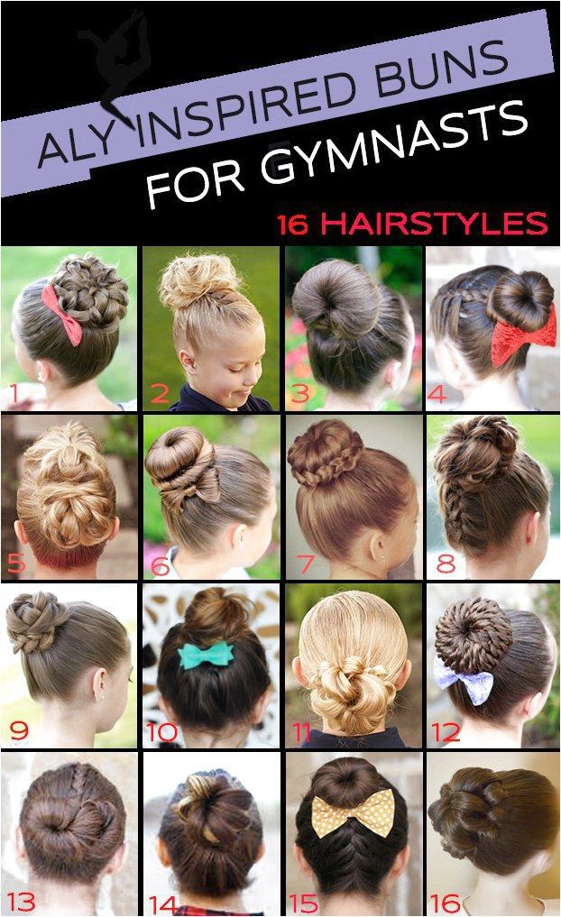 16 Gymnastics Hairstyles for Competition Day: The Bun Edition #ClassicBoxBraidHa…