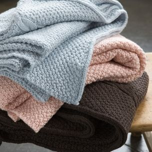 Cable Blankets - made from 100% Merino Wool. Designed and made in Australia by Luna Gallery. Now available at Home Productions