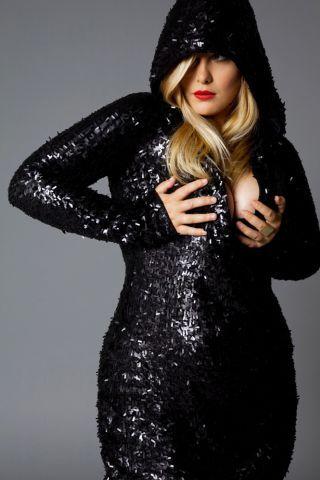 black glitter and a hoodie... i love!