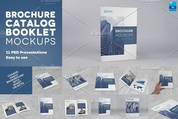 Brochure / Catalog / Booklet Mockups by Illusiongraphic on @creativemarket