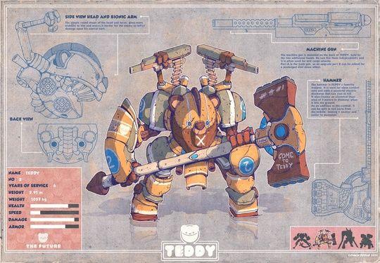 """Teddy "" by Cosmin Podar on #INPRNT - #illustration #print #poster #art"