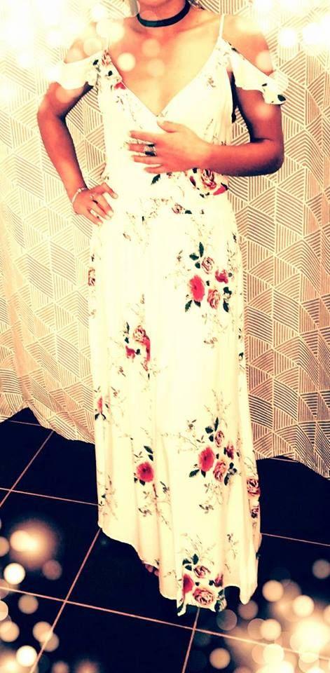 Vestido Branco Florido! Peça já o seu!