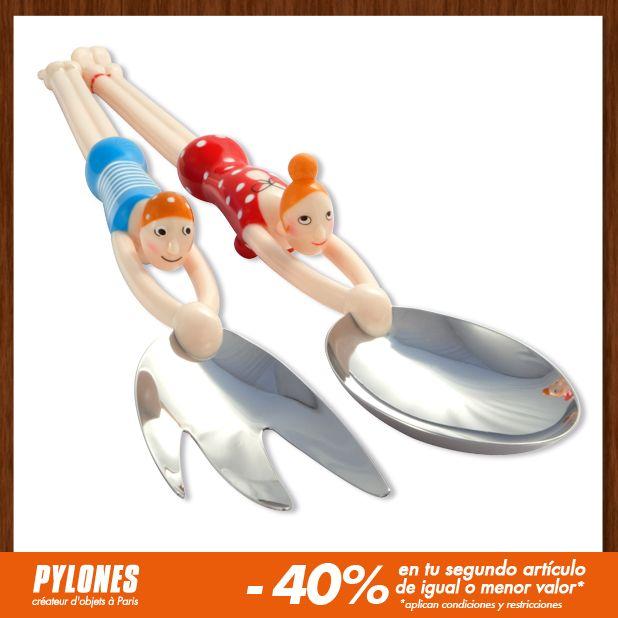 Cuchara para ensalada Swimmers. #SalePylones — en Colombia.