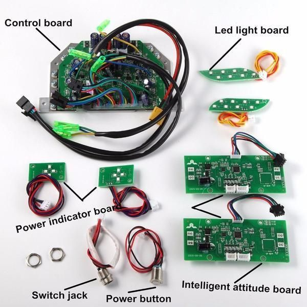 Hoverboard Circuit Board Replacement Parts Kit Bluetooth Green Narrow Clip Hoverboard Circuit Board Light Board