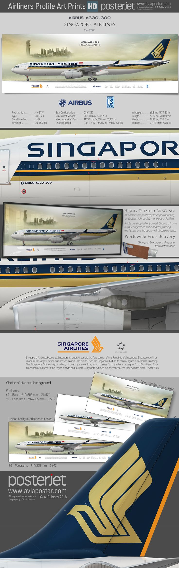 Airbus A330-300 Singapore Airlines 9V-STW