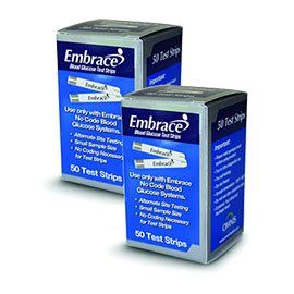 100 EMBRACE Blood Glucose Test Strips - (2 Boxes of 50) includes FREE Lancets ** Visit the image link more details.