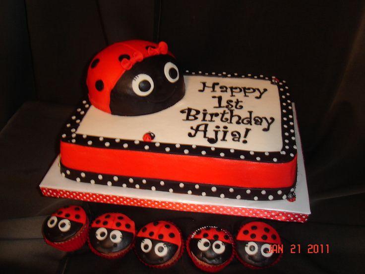 18 Best Ladybug Theme Images On Pinterest Ladybug Cakes