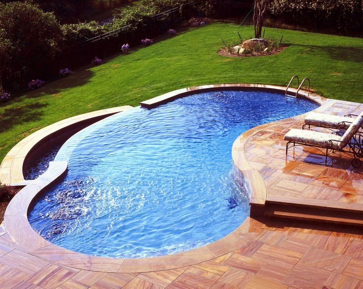 ground pool decks pools swimming above photos landscaping deck plans online