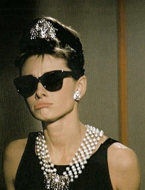 Audrey Hepburn. <3 Breakfast at Tiffany's. <3