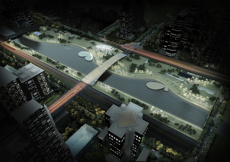 competition, shanghai, park, urban, render, visualization