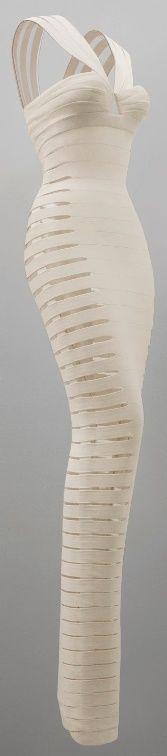 AZZEDINE ALAIA - white bandage dress   (via Women's Fashion ✯ / Alaïa, bandage dress, 1990)