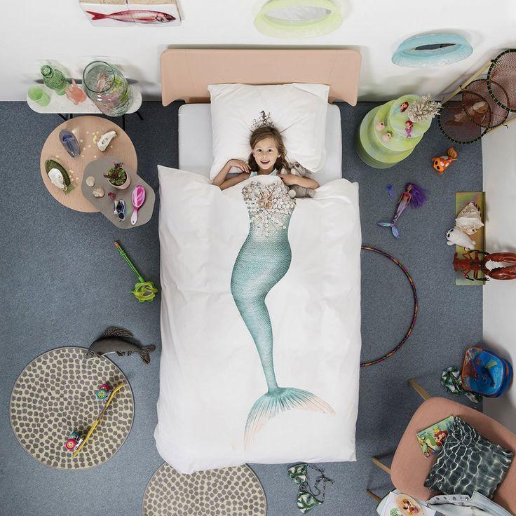 Housse de couette Sirène 1 place - Snurk