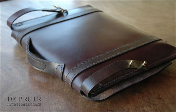 Leather Messenger by Irish Craftsman Garvan de Bruir.