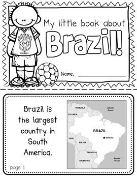 Brazil Booklet (A Country Study!) -- Use during social studies units about countries around the world! TeachersPayTeachers