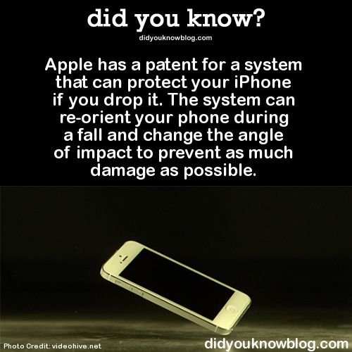 did you know?, Apple has a patent for a system that can protect...