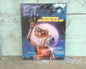 "Vintage E.T. ""The Extra-Terrestrial"" Colorforms Adventure Playset, Universal City Studios 1982, Still in Original Plastic Wrap/Never Used"