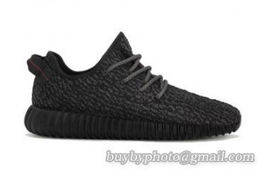 Authentic Adidas Yeezy 350 Boost Black Women-002