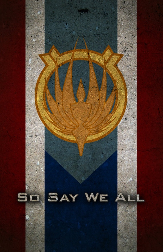 Battlestar Galactica Caprica Flag - Poster by Michael Stuckey