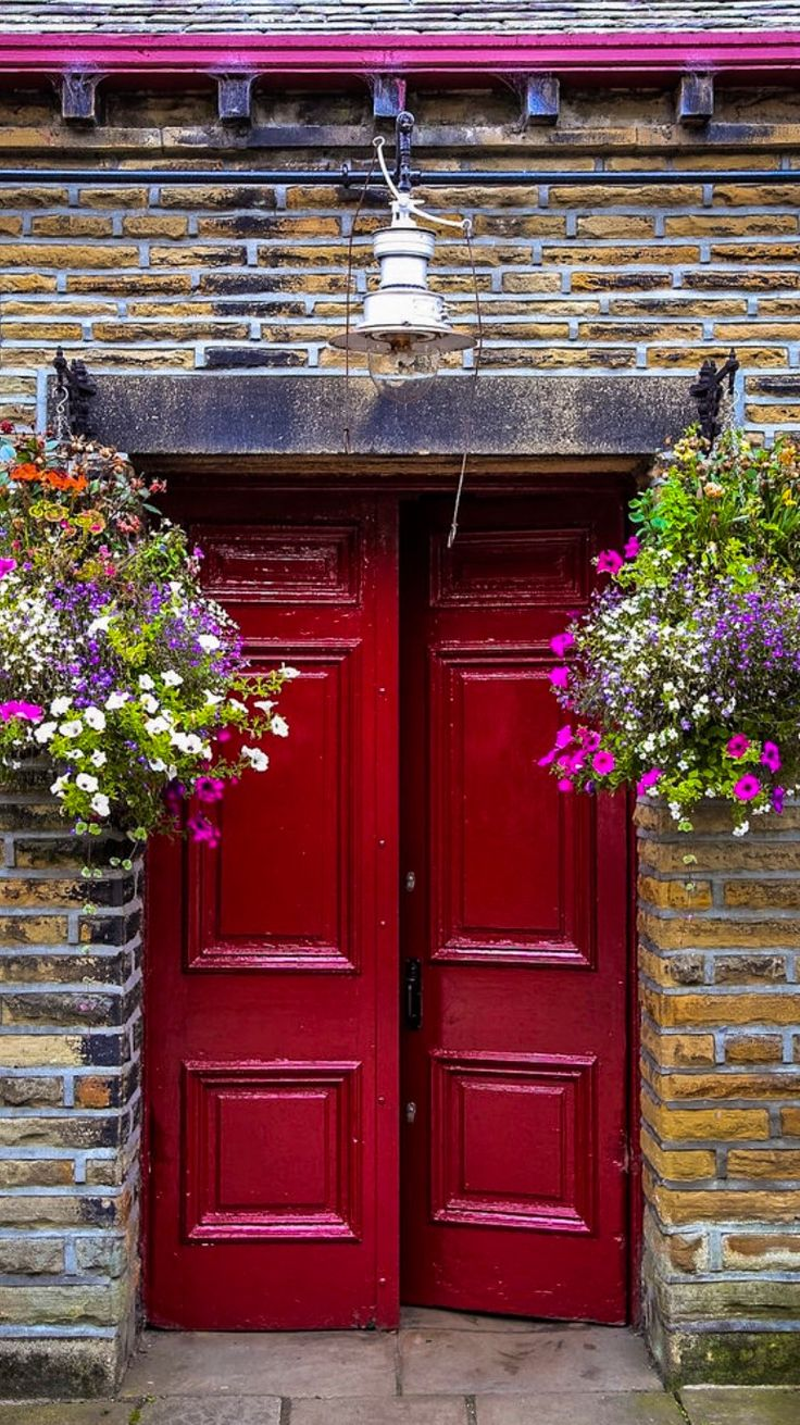 Red front doors for homes - Find This Pin And More On Doors