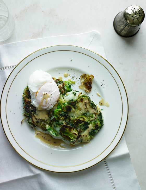 Our bubble and squeak cakes with poached eggs and mustard sauce will hit the spot after days of rich grub
