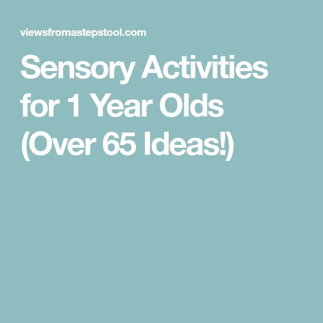 Sensory Activities for 1 Year Olds (Over 65 Ideas!)