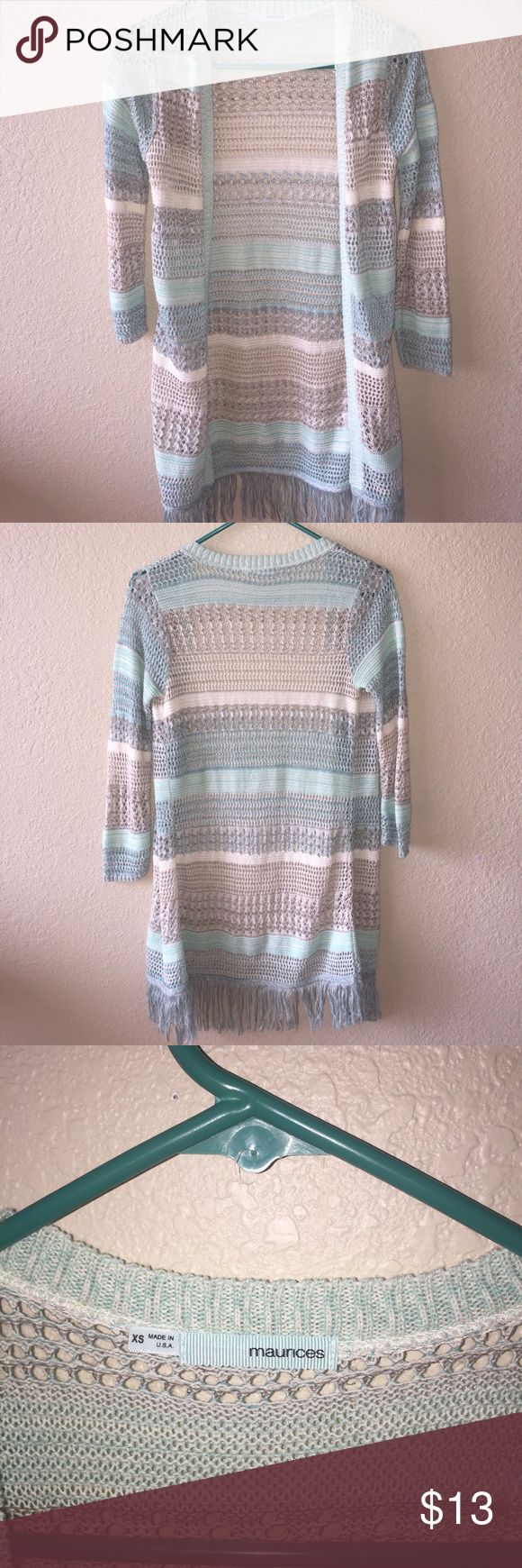 Maurices open front cardigan Size XS MAURICES open front cardigan. Worn a handful of times but in great condition!! Maurices Sweaters Cardigans