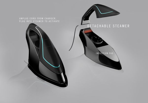 FEMME Clothing Iron & Steamer Concept by W. Jessica Choi, via Behance