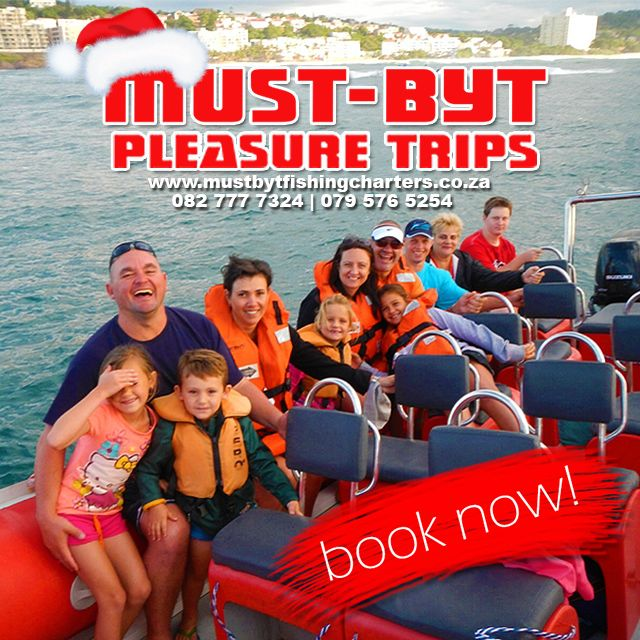 Book a #PleasureTrip in #December! HURRY spots are filling up quick & you won't be disappointed!  Visit our website for more information, link in bio.   #KZNsouthcoast #FishingDBN