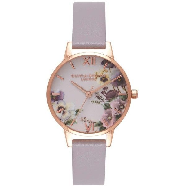 FANCY SALE: Follow us and repin and win  Women's Olivia Burton Begin To Blush Leather Strap Watch, 30Mm ($110) ❤ liked on Polyvore featuring jewelry, watches, leather-strap watches, charm jewelry, olivia burton watches, dial watches and charm watches  (Click on photo to see more ...)