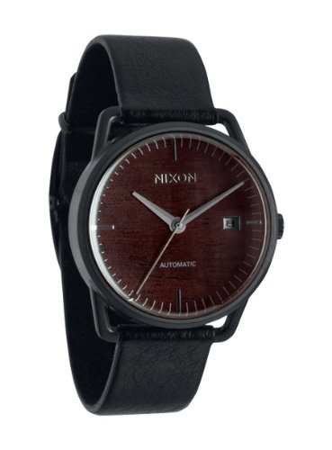 Nixon Mellor Automatic Watch Dark Wood/Black, One Size $448.95 http://amzn.com/B006MNE7RG #NixonWatch