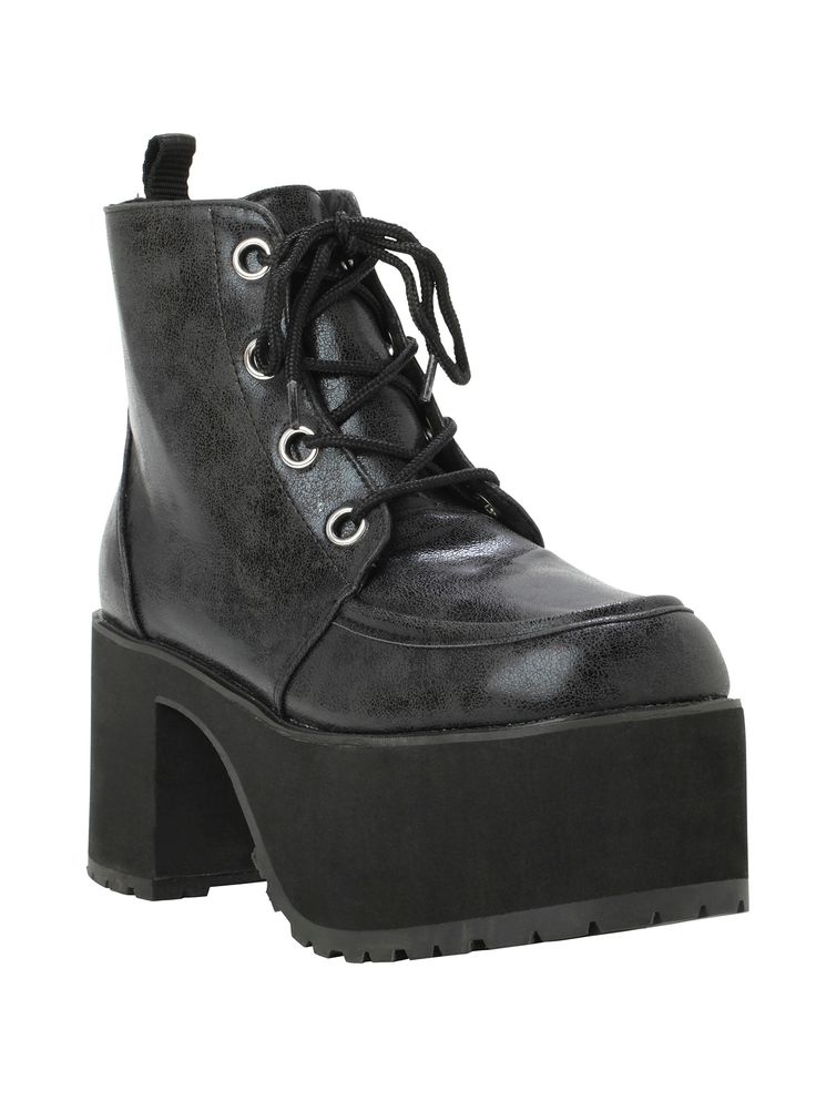T.U.K. Distressed Ankle Nosebleed Boot   Hot Topic   #hottopic #tuk #boot