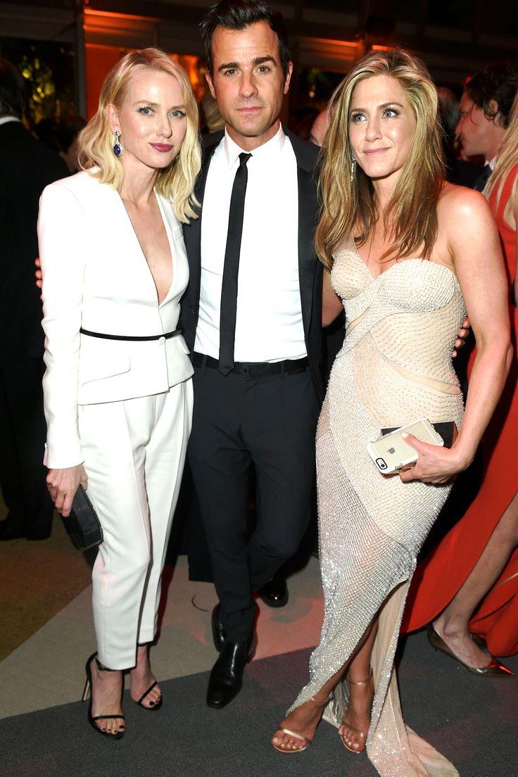 Naomi Watts, Justin Theroux and Jennifer Aniston is Atelier Versace (Vanity Fair After Party)   - HarpersBAZAAR.com
