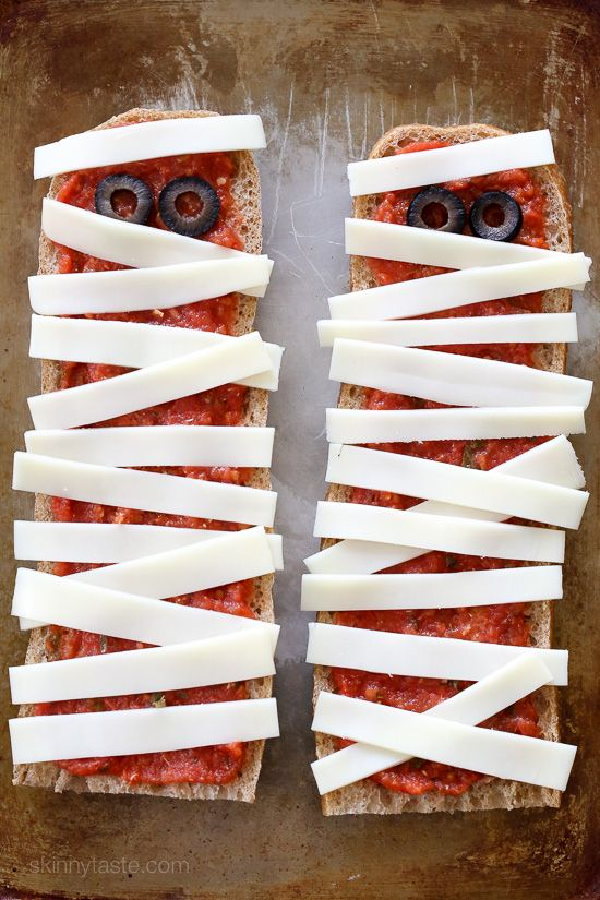 french bread pizza ghosts perfect easy recipe for your halloween party just 4 ingredients - Gourmet Halloween Recipes