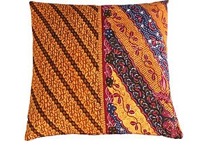 """Good way of having the indo and aus patterns connect somehow...? Java batik pillow 20""""x20"""""""