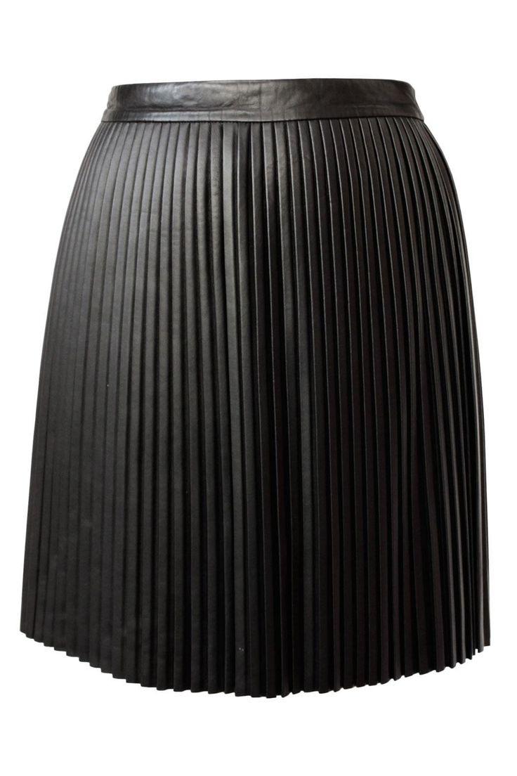 best 25 pleated leather skirt ideas on black